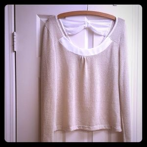 Glittery shimmer cream top by American Rag